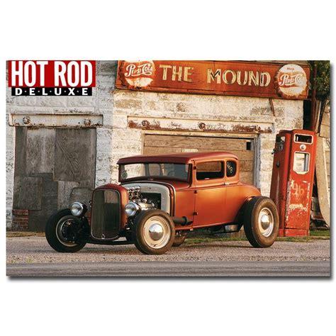 classic car home decor nicoleshenting hot rod muscle car art silk fabric poster