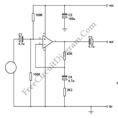 capacitor microphone circuit condenser microphone op circuit 28 images simple condenser microphone circuit electronic