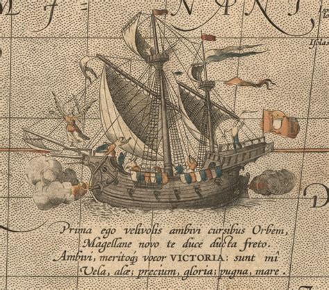boat lettering victoria the victoria a spanish carrack ship of abraham ortelius