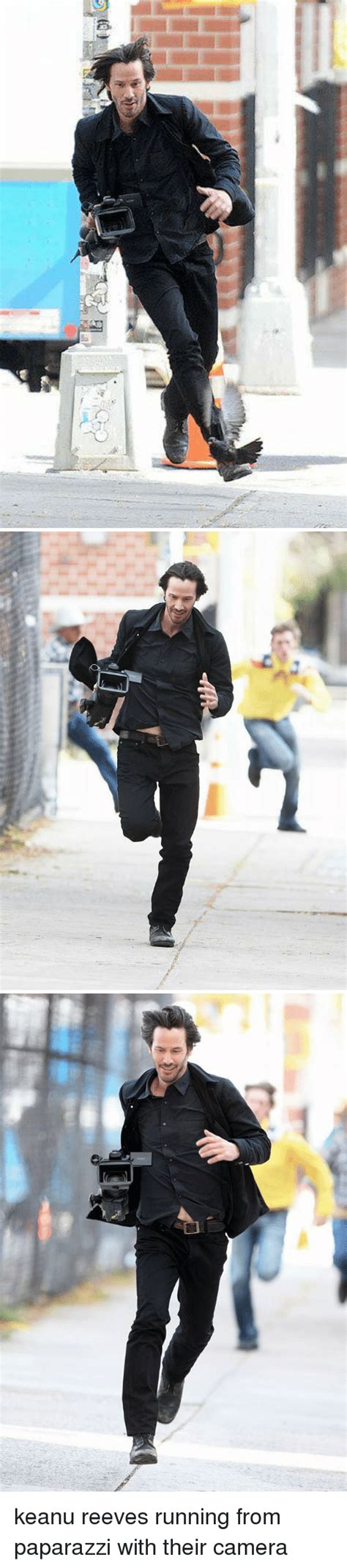 Keanu Reeves Runs The Paparazzi by Search S Memes On Me Me