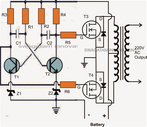 mosfet transistor theory mini 50 watt mosfet inverter circuit circuit projects