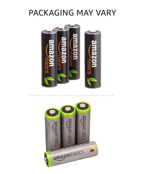 Amazonbasics Pile Rechargeable Aa by Galleon Amazonbasics Aa High Capacity Rechargeable Batteries 4 Pack Pre Charged Packaging