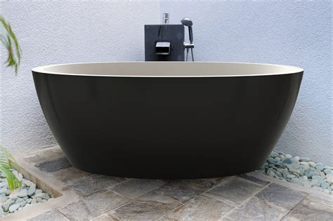 solid surface bathtub aquatica sensuality black wht freestanding solid surface