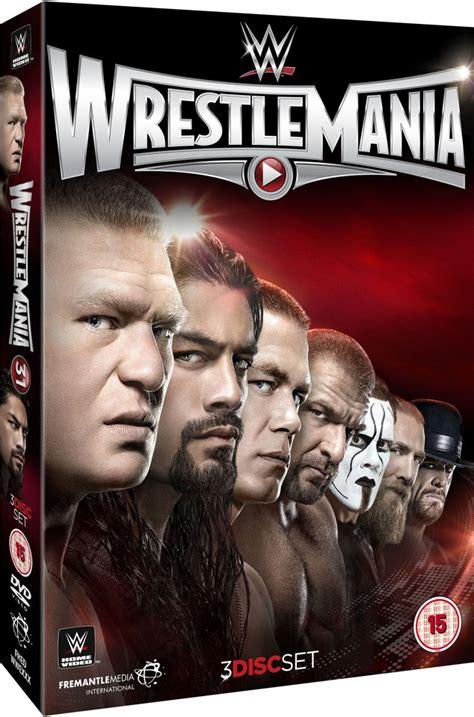 wwe wrestlemania  dvd zavvi