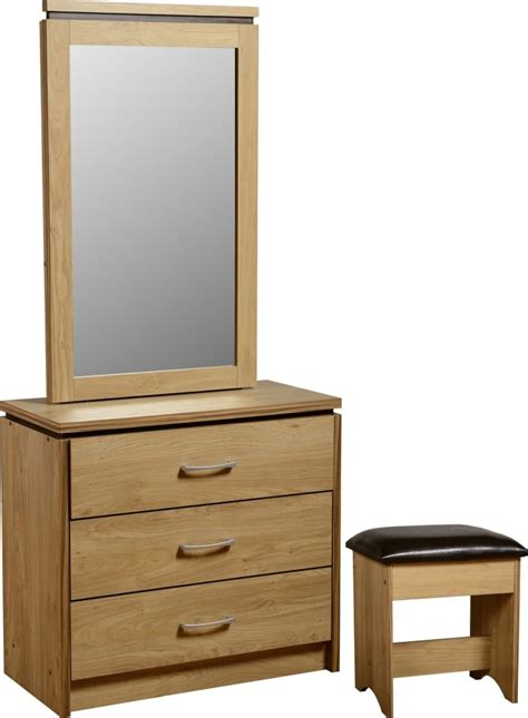 shabby chic white wooden mirror vanity make up table with