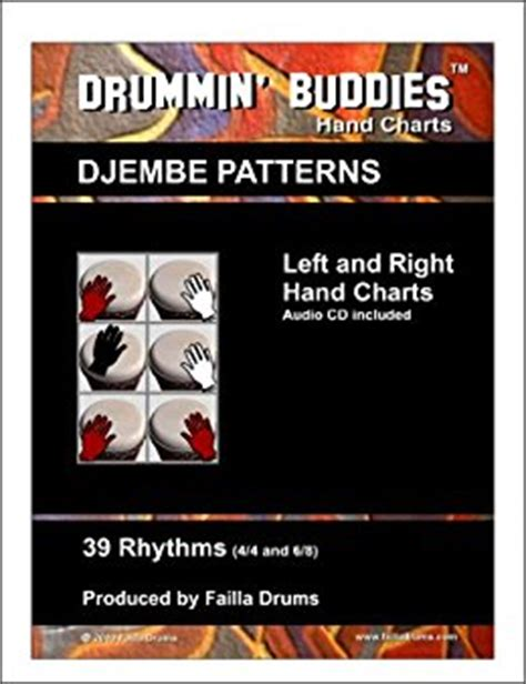 drum pattern left right left left drummin buddies hand charts djembe patterns left and