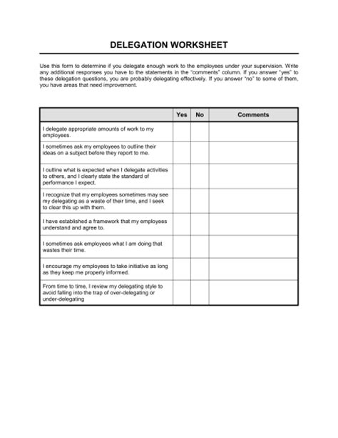 task delegation template delegation worksheet wiildcreative