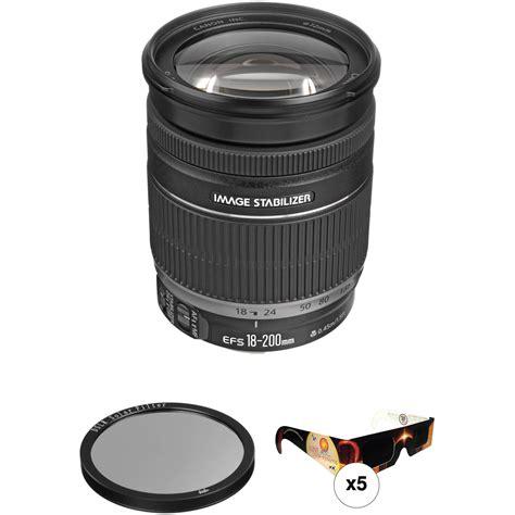 Ef S 18 200mm F 3 5 5 6 Is canon ef s 18 200mm f 3 5 5 6 is lens solar eclipse kit b h