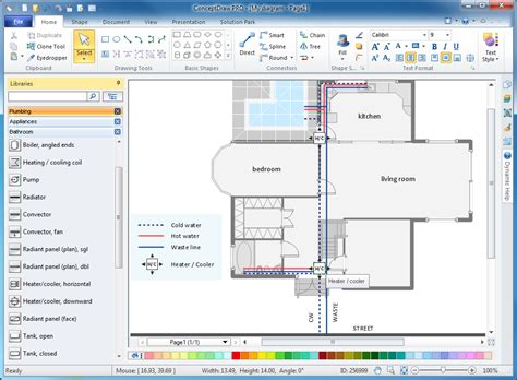home design software electrical and plumbing plumbing plans for a house house and home design
