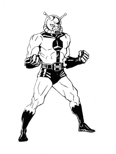 marvel giant coloring pages ant man by atelierlambert on deviantart