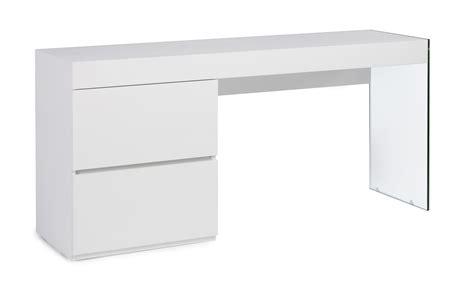 bureau laque blanc bureau moderne laqu 233 blanc 2 tiroirs cubique lestendances fr