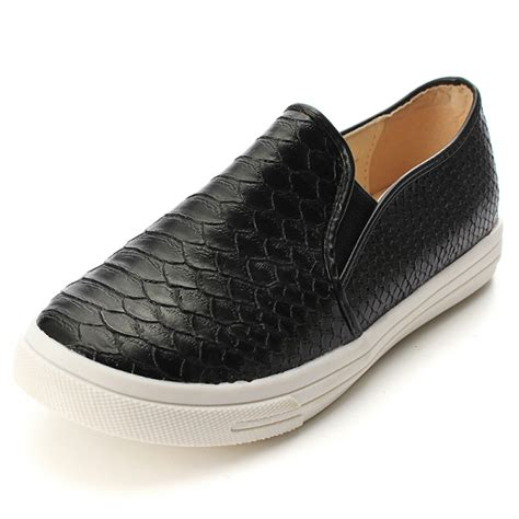 Casual Print buy casual loafers python print flat heel shoes