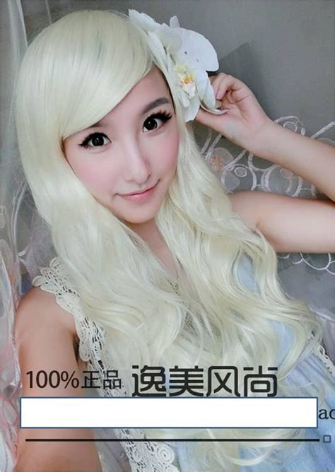 Wig Rambut Palsu Curly 80cm 2013 new fashion human hair wig white view