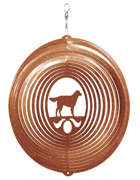 pug opoly ebay swen products golden retriever circle swirly metal wind spinner ebay