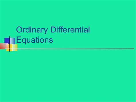 Persamaan Diferensial Biasa persamaan differensial biasa 2014