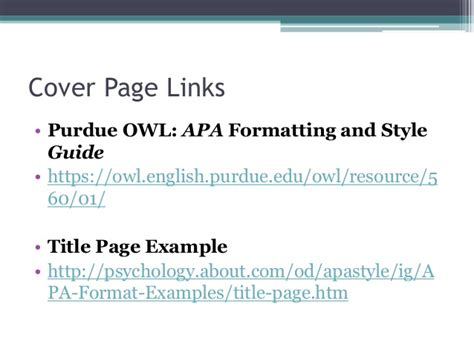 apa format link citing yourself and cover pages