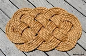 nautical rope doormat welcome mat large 19 x