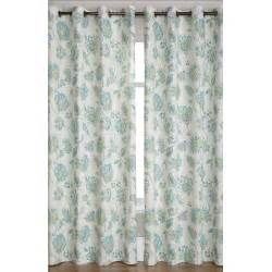 Teal Floral Curtains Floral Print Curtain Tiebacks Pair Teal Green