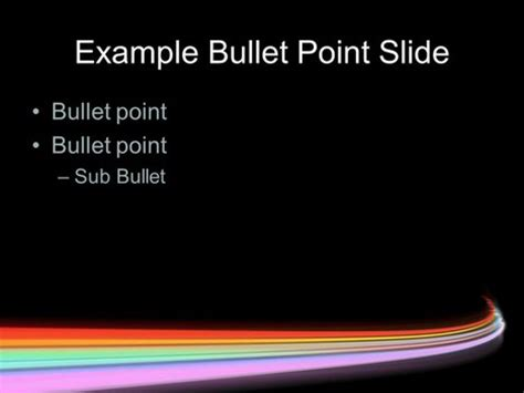 motion powerpoint templates rainbow motion blur template