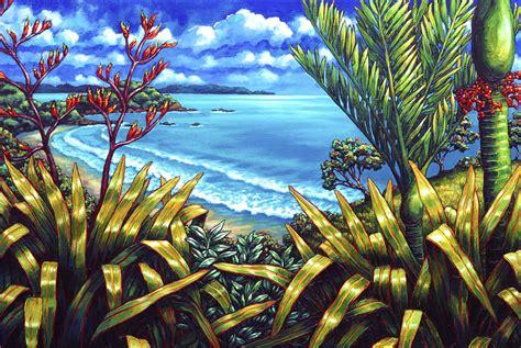 painting new caz novak new zealand artist prints coastal new zealand
