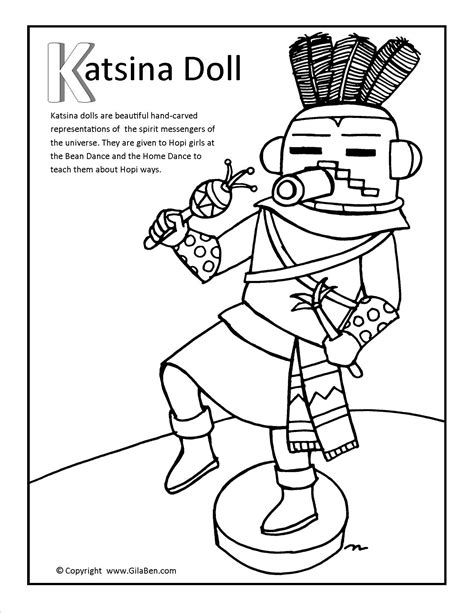 kachina doll coloring page katsina doll coloring page
