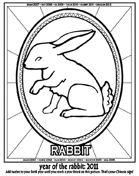 new year hare meaning new year year of the rabbit coloring page