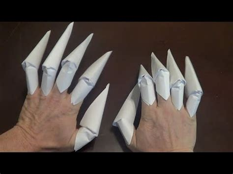 Claw Origami - origami claws tutorial finger claws