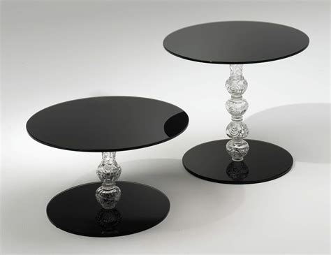black contemporary end tables glas italia calice contemporary end table in black