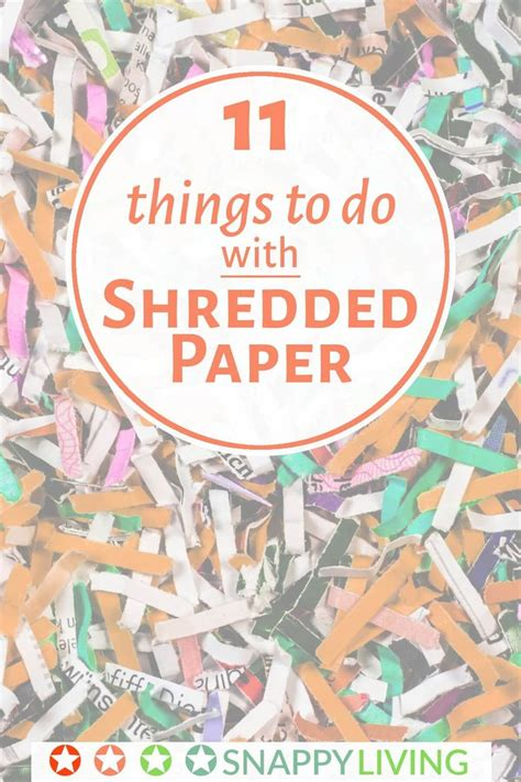 Things To Do With Craft Paper - 11 things to do with shredded paper shredded paper junk