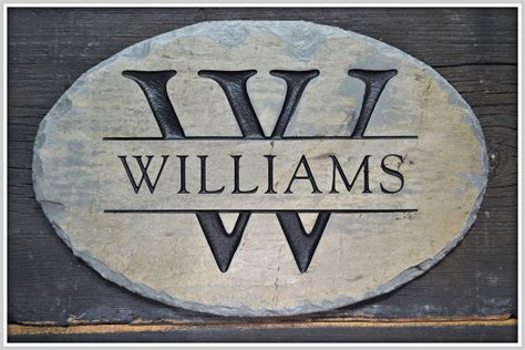 name plaques for house monogram name plaque carved stone family sign house