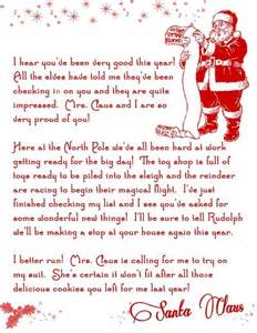 letter from santa printable free