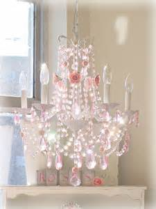 Chandeliers For Girls Room French Chandelier With Pink Roses And Pink Prisms The
