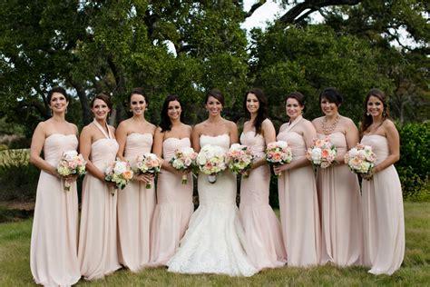 blush colored bridesmaid dress strapless blush bridesmaids dresses elizabeth