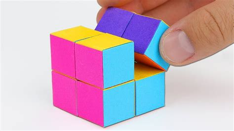 Make A Cube From Paper - how to make an infinity cube out of paper my crafts and