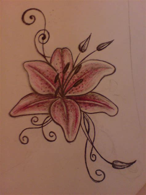 simple lily tattoo designs by aim z on deviantart