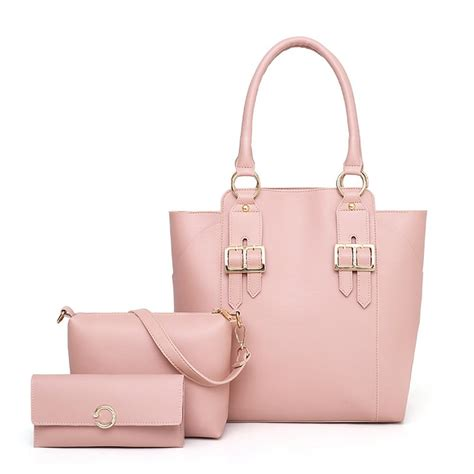 Bag In Bag Set 2 Pcs Pink 3pcs set handbag shoulder bag handbag purse pink