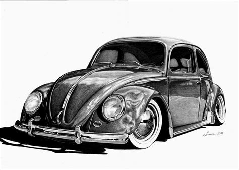 old volkswagen drawing vw beetle by luzarra on deviantart