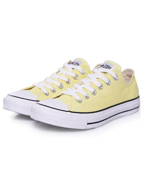 light yellow converse shoes converse sneakers classic light yellow shoes pinterest