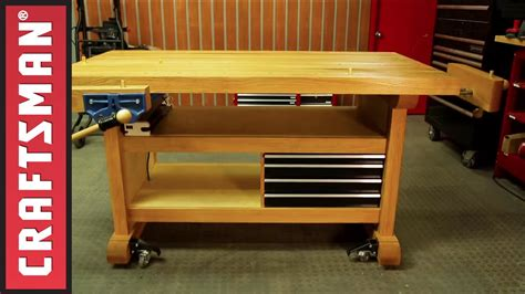 how to build a garage bench how to build a workbench for your garage craftsman youtube