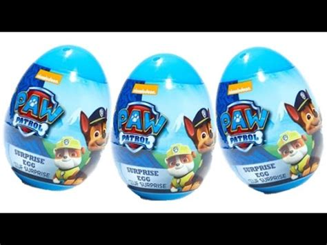 Paw Patrol Eggs Isi 4 paw patrol egg opening