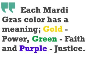mardi gras colors meaning king cake