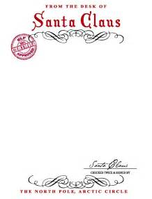 best photos of letter from santa stationary template
