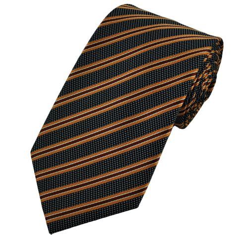 orange patterned ties black silver orange striped patterned men s tie from