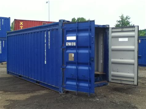 second storage containers 20ft 8ft wide blue 20 ft steel storage container