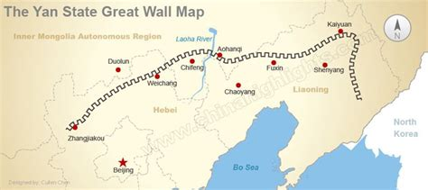 great world city map location great wall maps where the great wall is and was
