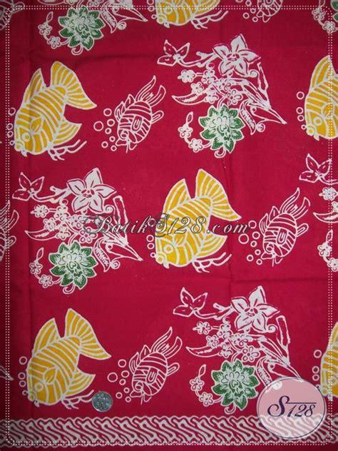 Batik Tulis Pria Motif Ikan kain batik unik motif ikan k1133c toko batik 2019