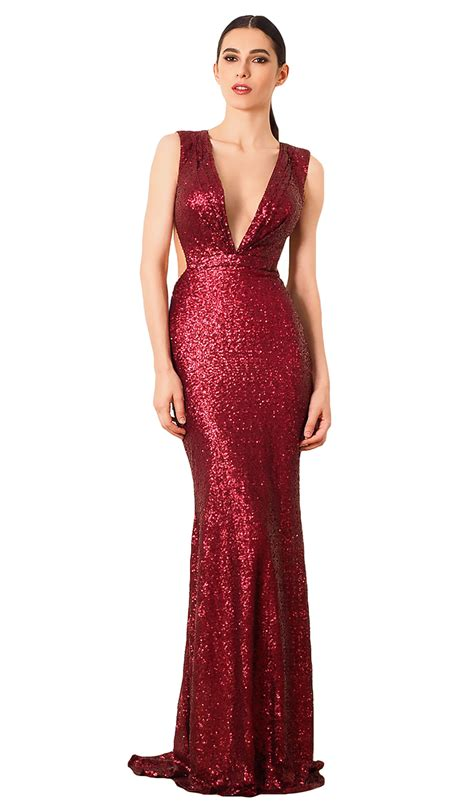 Wst 9645 Lace Neck Dress Ml sequin gown cristallini hire dresses