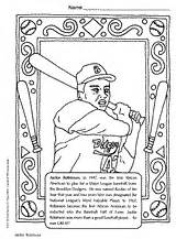 jackie robinson coloring page black history month