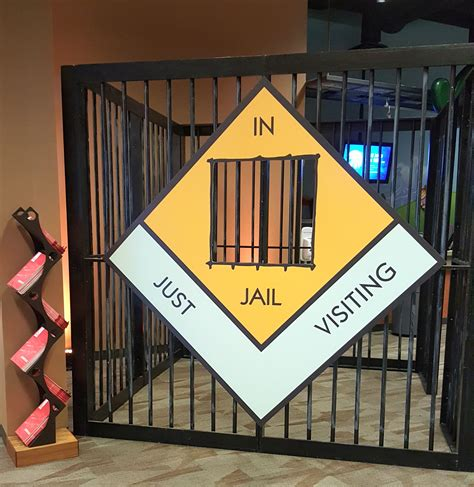 monopoly themed events sign with jail for monopoly themed event monopoly game