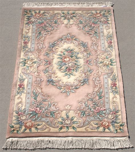light pink persian rug rra 4x6 chinese aubusson design light pink rose rug 29237